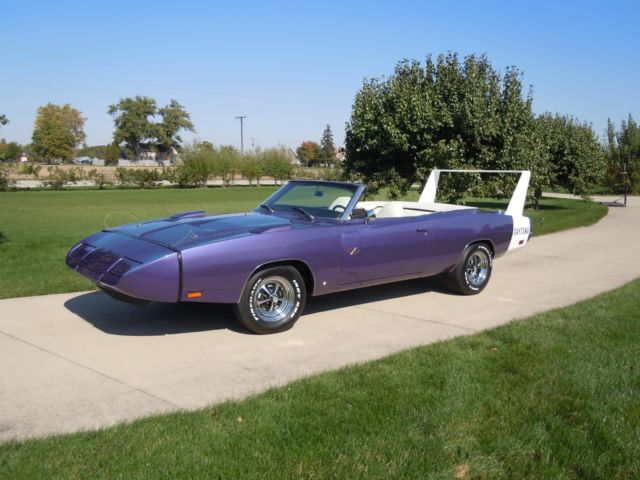 1970 Dodge Charger Daytona Convertible Plum Crazy 383 Cid For Sale Dodge Daytona 1970 For Sale In Ossian Indiana United States