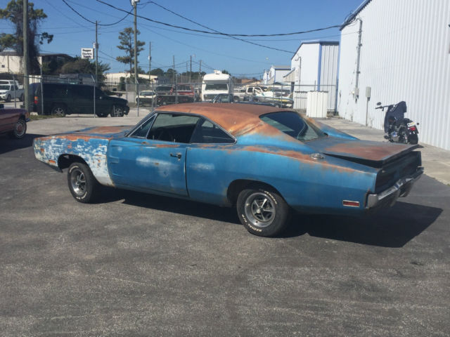 1970 Dodge Charger RT Project Car-Overall Solid Car For