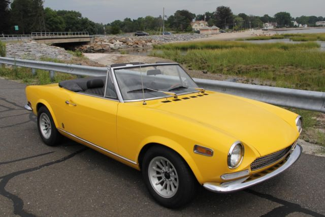 Fiat Spider For Sale >> 1970 FIAT 124 SPIDER 34825 Miles YELLOW CONVERTIBLE 1750 CC 4 cylinder MANUAL for sale - Fiat ...