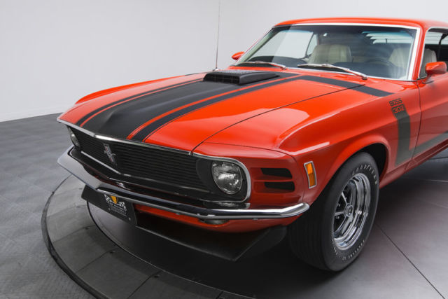 1970 ford mustang boss 302 73430 miles calypso coral fastback 302 v8 4 speed man for sale ford. Black Bedroom Furniture Sets. Home Design Ideas