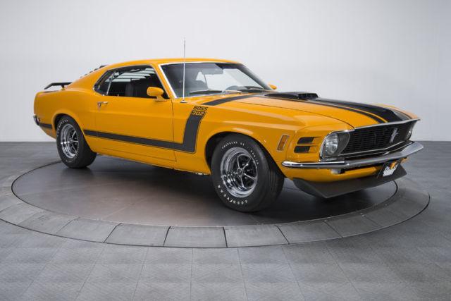 1970 ford mustang boss 302 74 670 miles grabber orange fastback 302 v8 4 speed m for sale ford. Black Bedroom Furniture Sets. Home Design Ideas