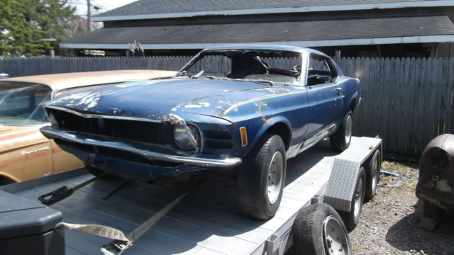 1970 Ford Mustang Fastback Project Car For Sale