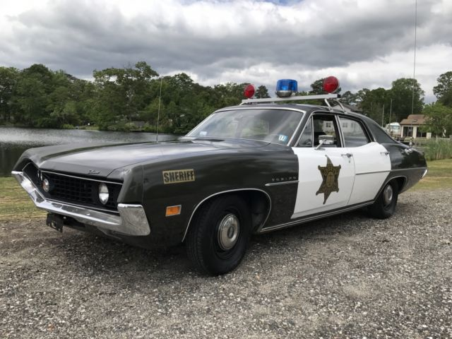 1970 ford torino police squad sheriff cop car 351 v8 automatic patrol car for sale ford. Black Bedroom Furniture Sets. Home Design Ideas