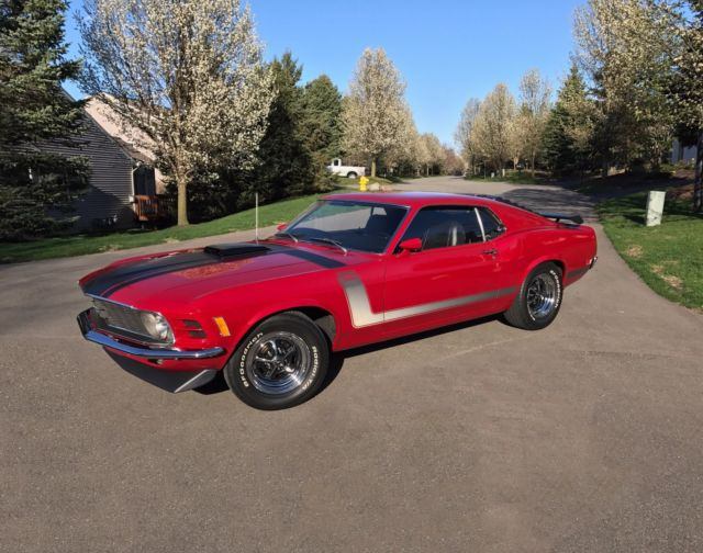 1970 mustang boss 302 medium red concours quality restoration for sale ford mustang shaker. Black Bedroom Furniture Sets. Home Design Ideas