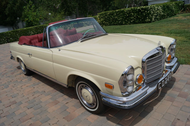 1971 280se 3 5 cabriolet restored by renown marque for Mercedes benz restoration specialists
