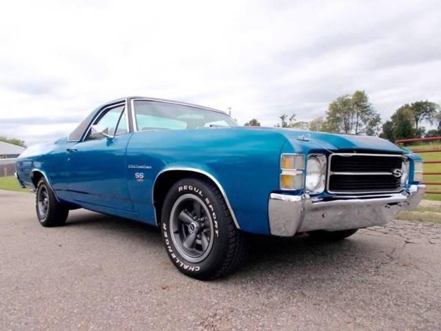 1971 chevrolet el camino ss pickup car matching ls5 454 rock crush 4 speed for sale. Black Bedroom Furniture Sets. Home Design Ideas