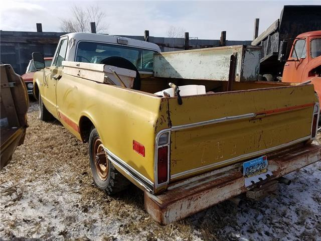 1971 chevy cheyenne 20 yellow 350 v8 auto for sale for Chevy v8 motors for sale
