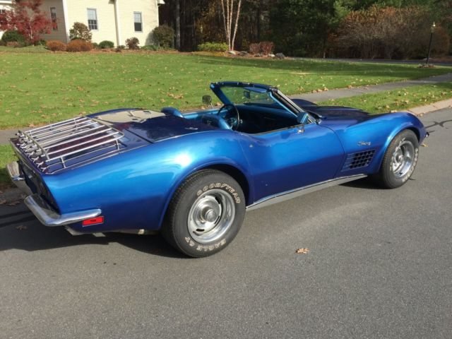 1971 corvette convertible matching numbers nice and cheap 1970 1972 1973 for sale. Black Bedroom Furniture Sets. Home Design Ideas