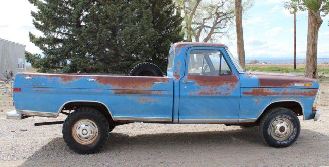 1971 ford f 100 4x4 4 speed pickup truck original drive line 71 Ford F-250 4x4 1971 ford f 100 4x4 4 speed pickup truck original drive line paint body