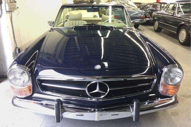 1971 mercedes benz 280sl 85 134 miles 904 midnight blue for Mercedes benz southampton ny