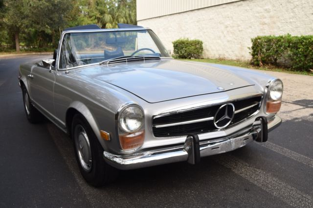 1971 mercedes benz 280sl rare 180g silver auto frigiking a. Black Bedroom Furniture Sets. Home Design Ideas