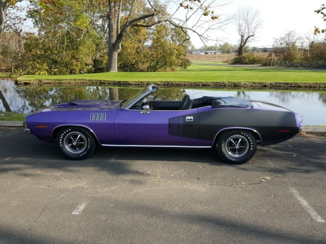 Plymouth Cuda Convertible Fc V X Black Billboards Numbers Matching