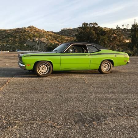 1971 plymouth duster 340 fj6 green mopar muscle car hot rod classic