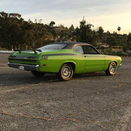 1971 plymouth duster 340 fj6 green mopar muscle car hot rod classic orig ca car for sale. Black Bedroom Furniture Sets. Home Design Ideas