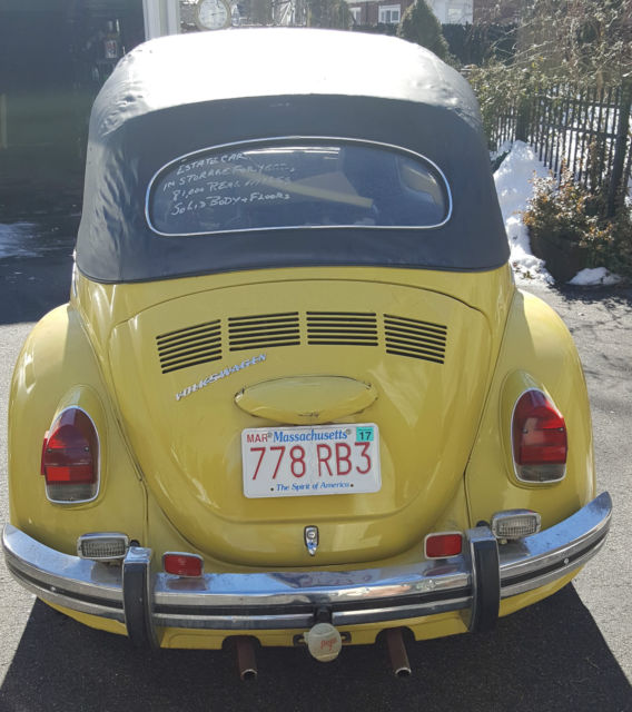 Volkswagen Bug For Sale: 1971 VW Beetle Convertible Estate Car, 81,000 Miles For