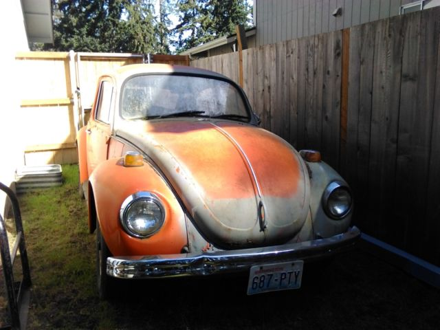 1971 VW BEETLE, WITH TOW BAR, PROJECT CAR OR PARTS CAR for