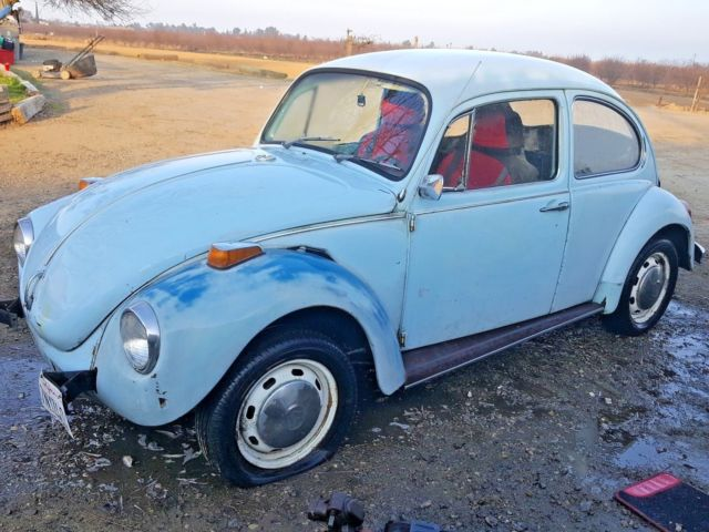 1971 vw volkswagon beetle bug baby blue with extra parts for sale volkswagen beetle classic. Black Bedroom Furniture Sets. Home Design Ideas