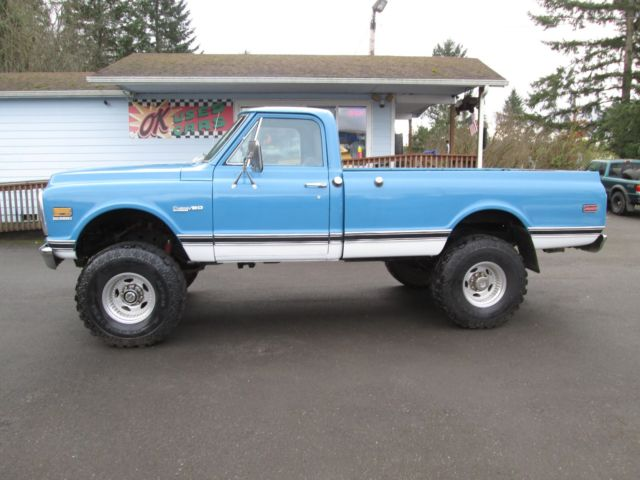 1972 3 4 ton 4x4 truck 3rd owner 85385 original miles 350 auto lifted no reserve for sale. Black Bedroom Furniture Sets. Home Design Ideas