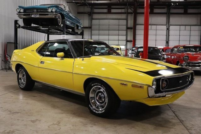 1972 AMC AMX Javelin 85490 Miles Canary Yellow Coupe 401 ... Yellow Javelin Car