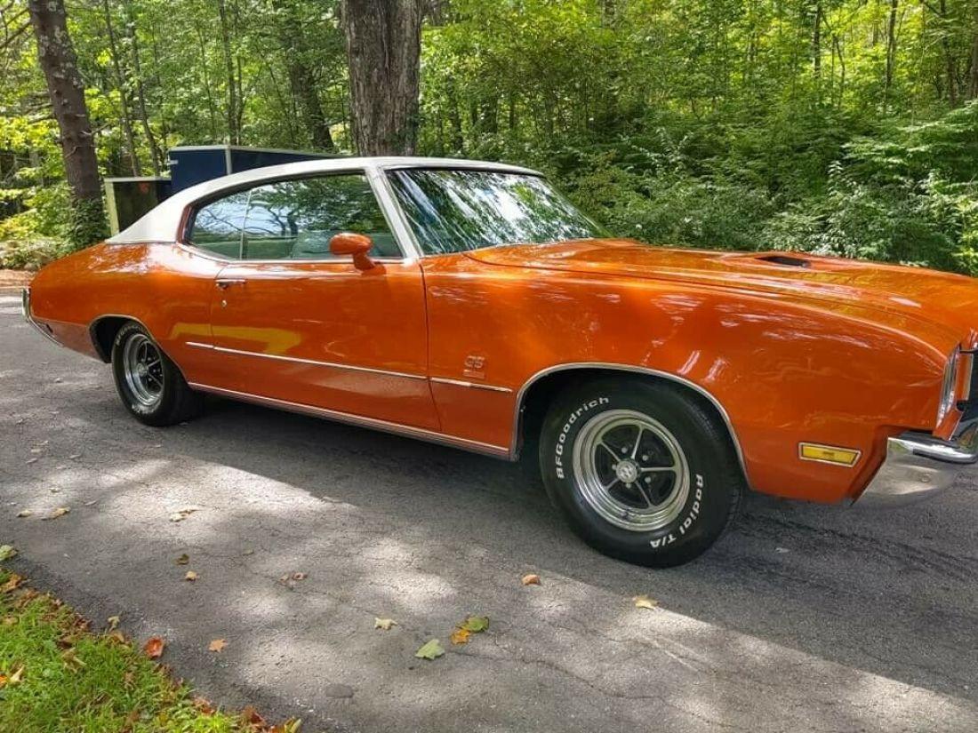 1972 buick gran sport classic car orange gs 350 for sale