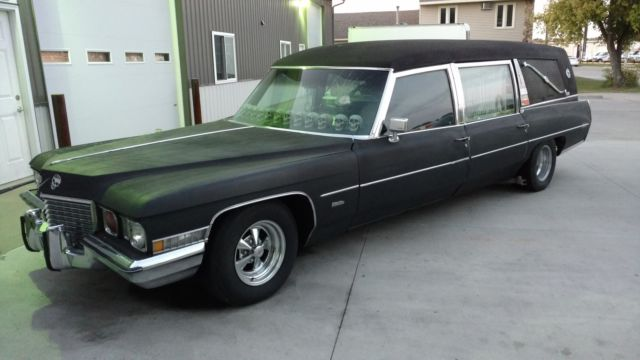 1972 cadillac fleetwood ambulance hearse the car of death halloween coffin sku