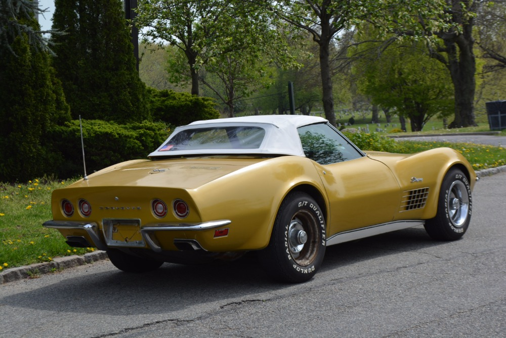 1972 Chevrolet Corvette 0 Yellow Convertible For Sale