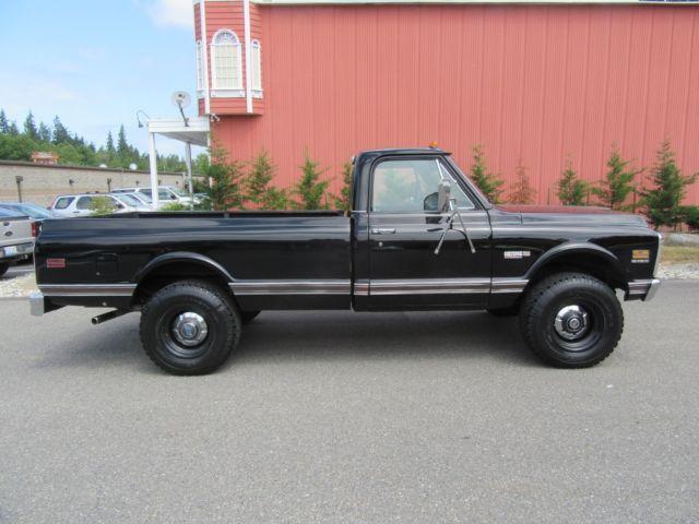 1972 chevrolet truck pickup black beauty 3 4 ton ck super cheyenne 4x4 for sale chevrolet. Black Bedroom Furniture Sets. Home Design Ideas
