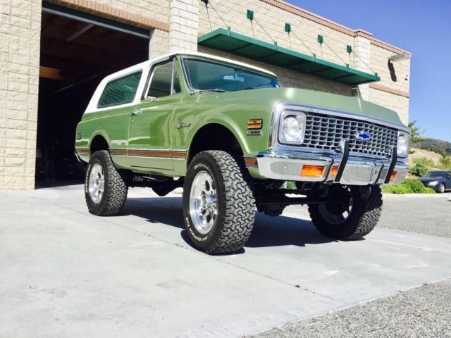 """1972 Chevy """"Baja Blazer"""" Turnkey Show Truck K5 4x4 Clear ..."""