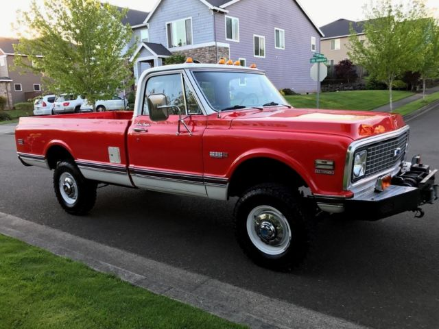 Chevy K20 For Sale >> 1972 Chevy K20 4x4 Factory 350 V8 Eng' Long Bed Only 37,359 Orig Miles Rust Free for sale ...