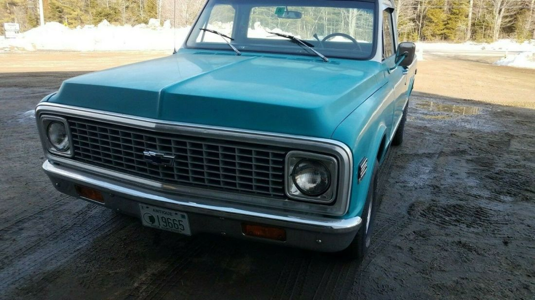 1972 Chevy Pickup Fleet Side Short Bed For Sale