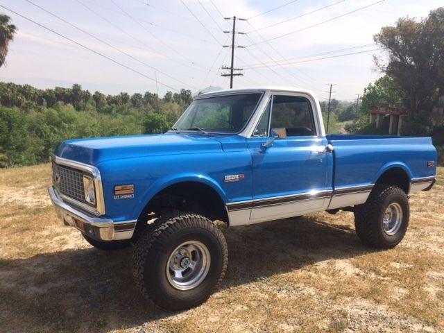 1972 Chevy Truck 4x4 Short Bed 72 Chevrolet K 10 Cheyenne