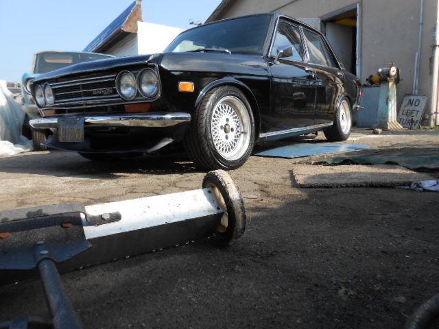 1972 Datsun 510 factory Black 505 four door SR20DET Street