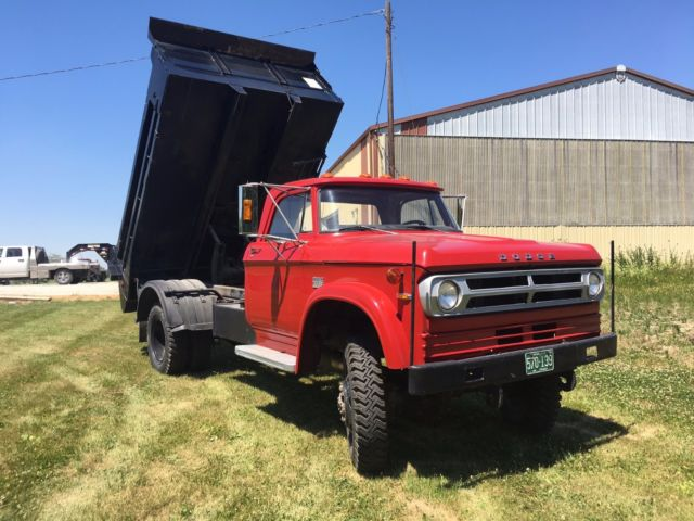 1972 dodge w600 4x4 dump truck power wagon hydraulic