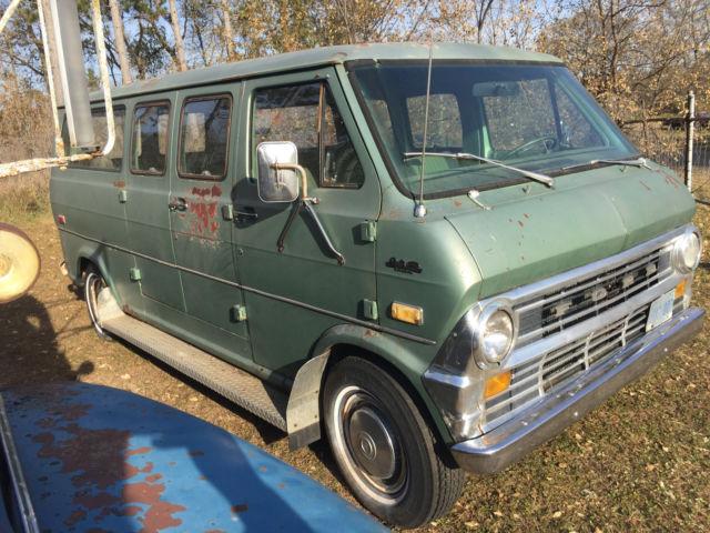 1972 Ford Econoline Club Wagon Passenger Hippie Camper Van For Sale