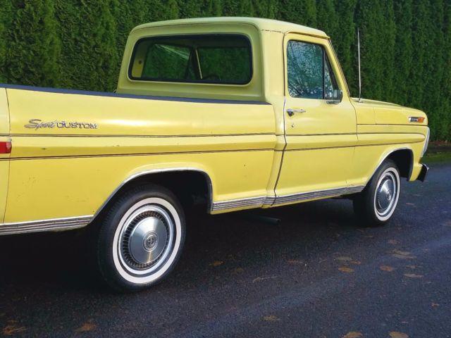 1972 ford f 100 sport custom 351 xlt ranger 2wd short bed. Black Bedroom Furniture Sets. Home Design Ideas