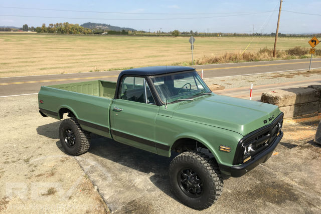 117121 1972 Gmc K20 Lifted 4x4 2500 Long Bed on 1972 gmc 4x4 interior