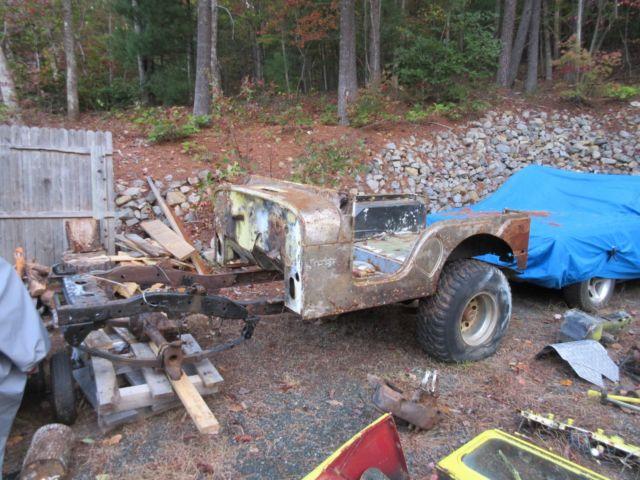 1972 Jeep Cj5 Tub Frame Fenders Hood Rears Transfer Case