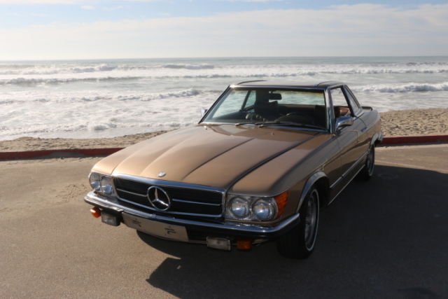 1972 mercedes benz 350sl convertible gold for sale for Mercedes benz sl coupe for sale