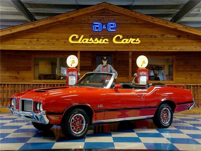 1972 Oldsmobile 442 Convertible -Red / Black for sale