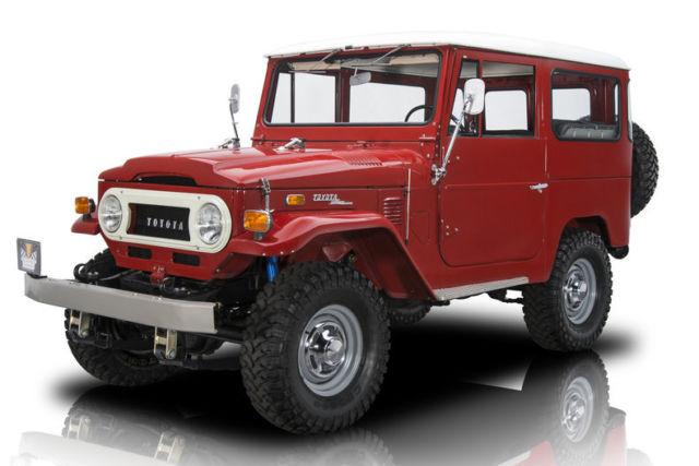 1972 toyota land cruiser fj40 288 miles red suv 3 speed. Black Bedroom Furniture Sets. Home Design Ideas