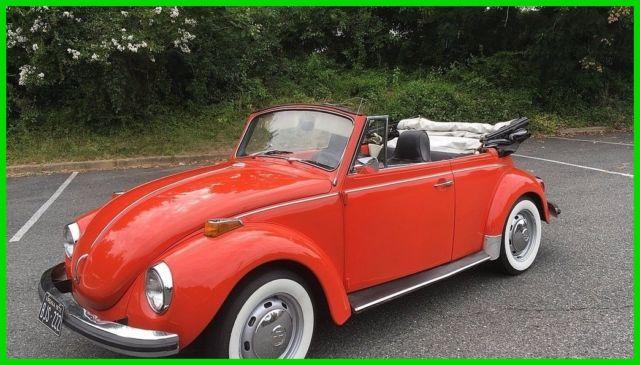 1972 volkswagen beetle vw bug 1600 cc v4 4 speed manual 2 door convertible for sale. Black Bedroom Furniture Sets. Home Design Ideas