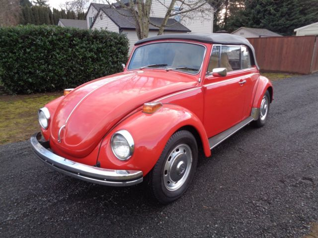 1972 vw beetle convertible rare options great condition for sale volkswagen beetle classic. Black Bedroom Furniture Sets. Home Design Ideas