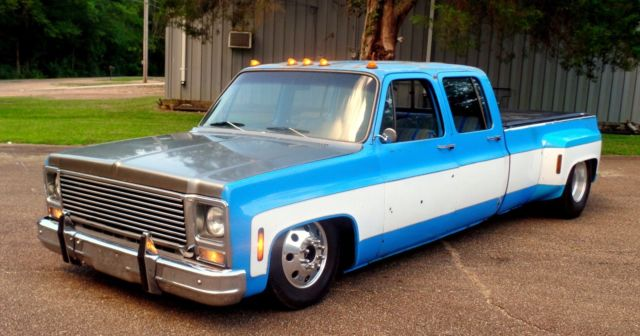 1973 3500 crew cab 454 3 3 dually bagged 19 5 alcoa wheels patina c 10 c30 c35 for sale. Black Bedroom Furniture Sets. Home Design Ideas