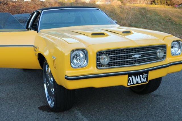 1973 chevy chevelle laguna donk w 26 dub spinners and pearl yellow paint job for sale. Black Bedroom Furniture Sets. Home Design Ideas