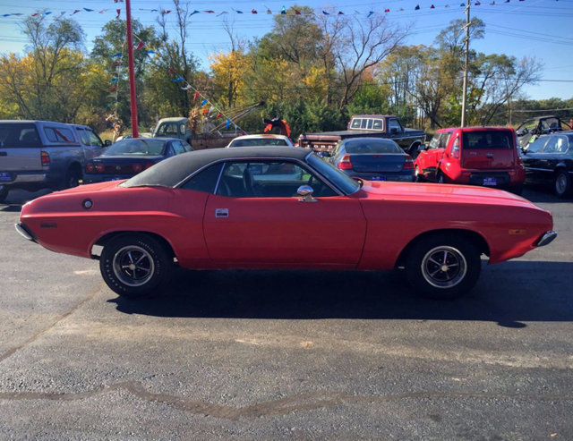 1973 Dodge Challenger 56722 Miles Red Coupe 318C V8 3-Speed Automatic for sale - Dodge ...