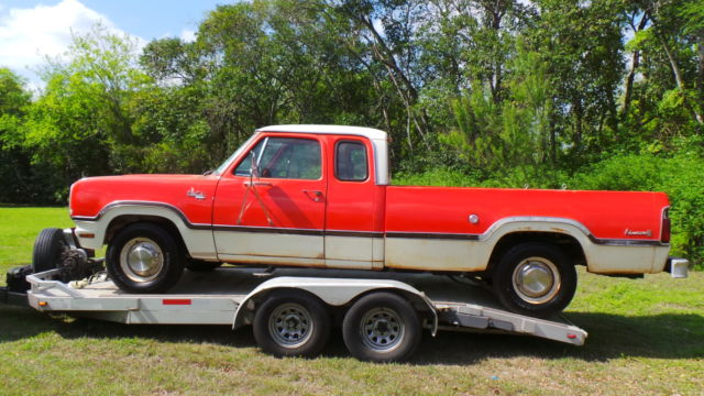 1973 DODGE D 200 CLUB CAB SE, TIME CAPSULE, WITH FACTORY 440, CAMPER SPECIAL for sale - Dodge ...