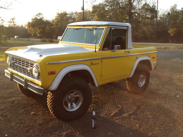 1973 early bronco 66 77 yellow with freshly rebuilt 302 for sale ford bronco sport 1973 for. Black Bedroom Furniture Sets. Home Design Ideas