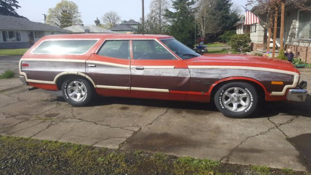 1973 Ford Gran Torino Squire Station Wagon LOW Miles for