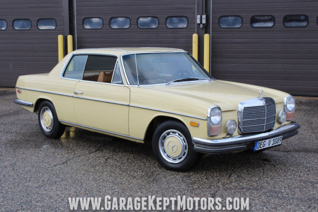 1973 mercedes benz 280c maple yellow coupe 2 8l 6 cylinder for Mercedes benz grand rapids