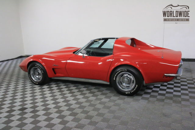 1973 red 350 v8 turbo 350 transmission for sale chevrolet corvette 350 v8 turbo 350. Black Bedroom Furniture Sets. Home Design Ideas